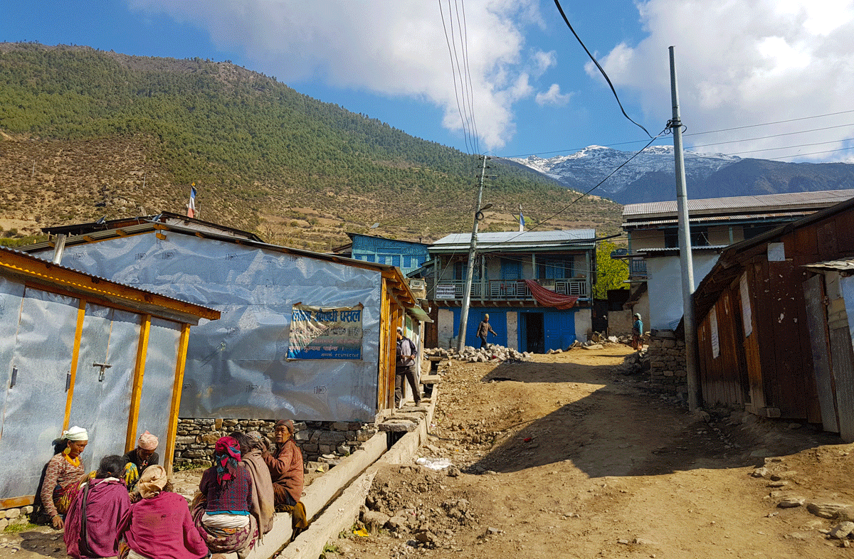 Nice view of newly constructed Road surrounding mountains