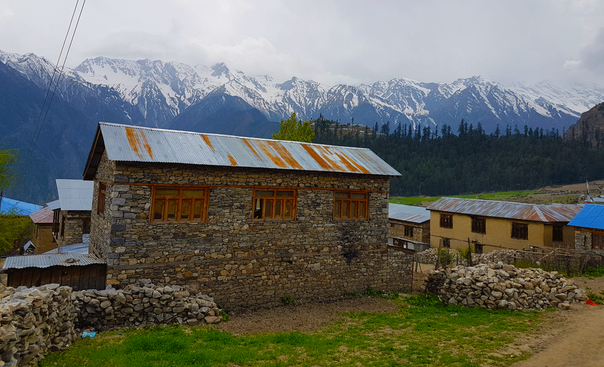 Snow Covered Peaks view from Simikot Bazar