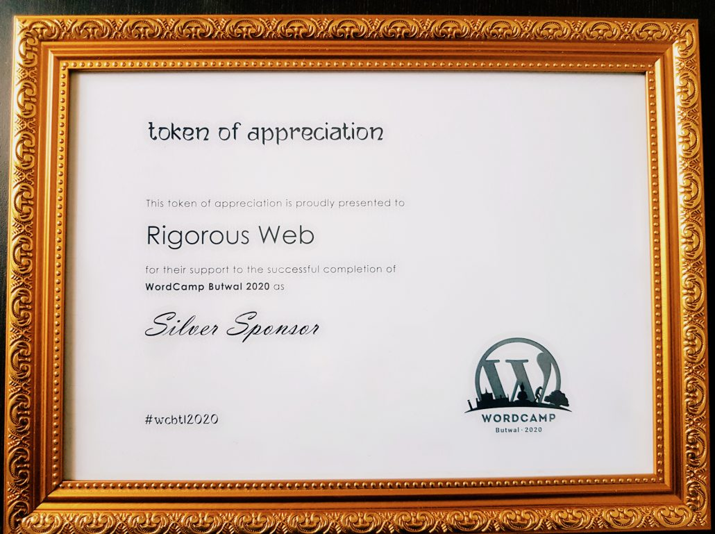 Token of love for Silver Sponsor